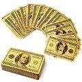 2016 Venta Caliente de Alta Calidad de Poker 24 k Oro Naipes Puente Índice Tamaño Regular