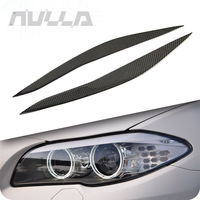 Carbon Fiber Headlights Eyebrows Eyelids Trim For BMW F10 5 Series 2010 2016 Cover Decoration Front Headlamp accessorie