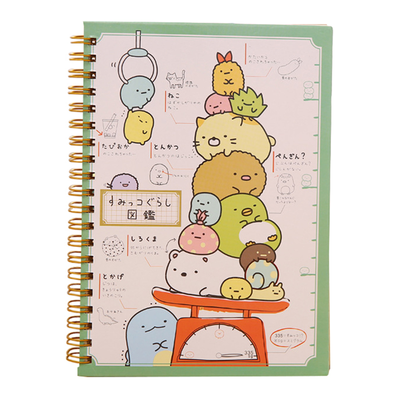 Kawaii Japan cartoon Rilakkuma & Sumikkogurashi Coil notebook/Diary agenda/pocket book/office school supplies weighingKawaii Japan cartoon Rilakkuma & Sumikkogurashi Coil notebook/Diary agenda/pocket book/office school supplies weighing