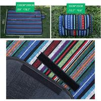 Evoio Picnic Mat 150cmX200cm(60''X80'') Outdoor Waterproof National Style Foldable Picnic Blanket Lawn Mat for Picnic/Camping/