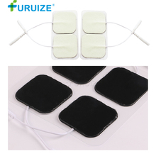 10-20pcs Adhesive Gel White Electrode Pads Body Massage use Digital Therapy Machine Massager Adhesive Gel Electrode pad On Sale new 10 pairs pack aed training machine adult electrode pads use for simulated first aid rescue heartstart trainer