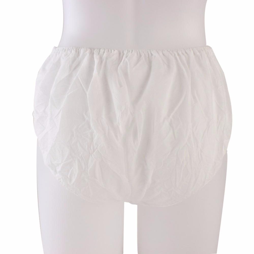 Disposable Non Woven Paper Brief Panties Unisex Travel Underwear 6Pcs Panties