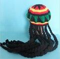 Jamaican Bob Marley Rasta Beanie Hat  Fancy Cap weed reggae braids African Hair wraps Braiding