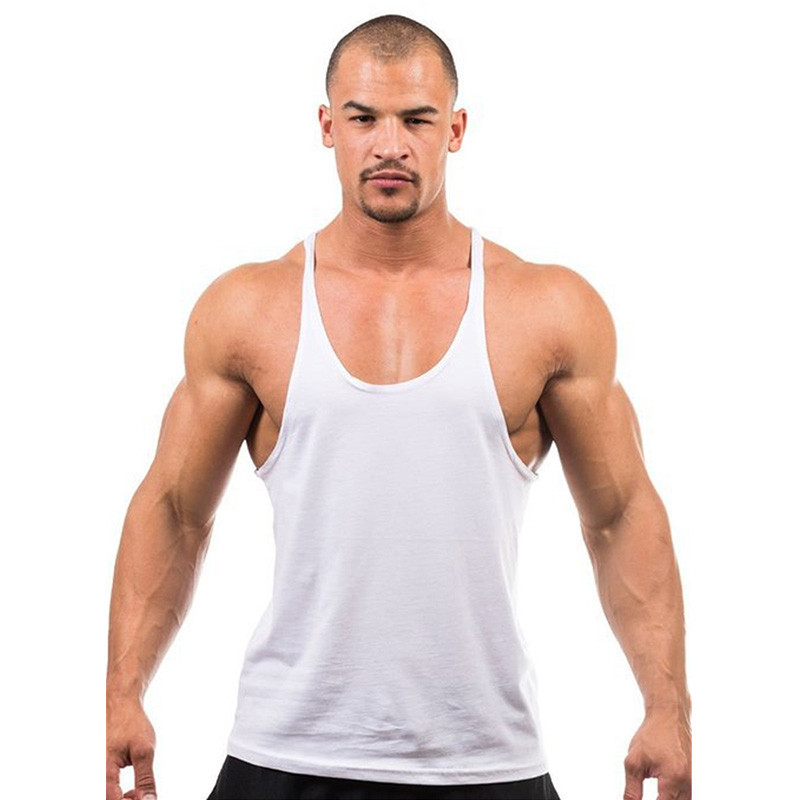 113159b103 Tank Top Fitness Men Blank Bodybuilding Stringer Singlets hark Sleeveless  Suit T shirt Cotton Custom Logo-in Tank Tops from Men's Clothing on  Aliexpress.com ...