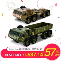 Hots HG P801 P802 1/12 2.4G 8X8 M983 739mm Brushed Rc Car US Army Military Truck Without Battery Charger Rcing Car For KId Gift