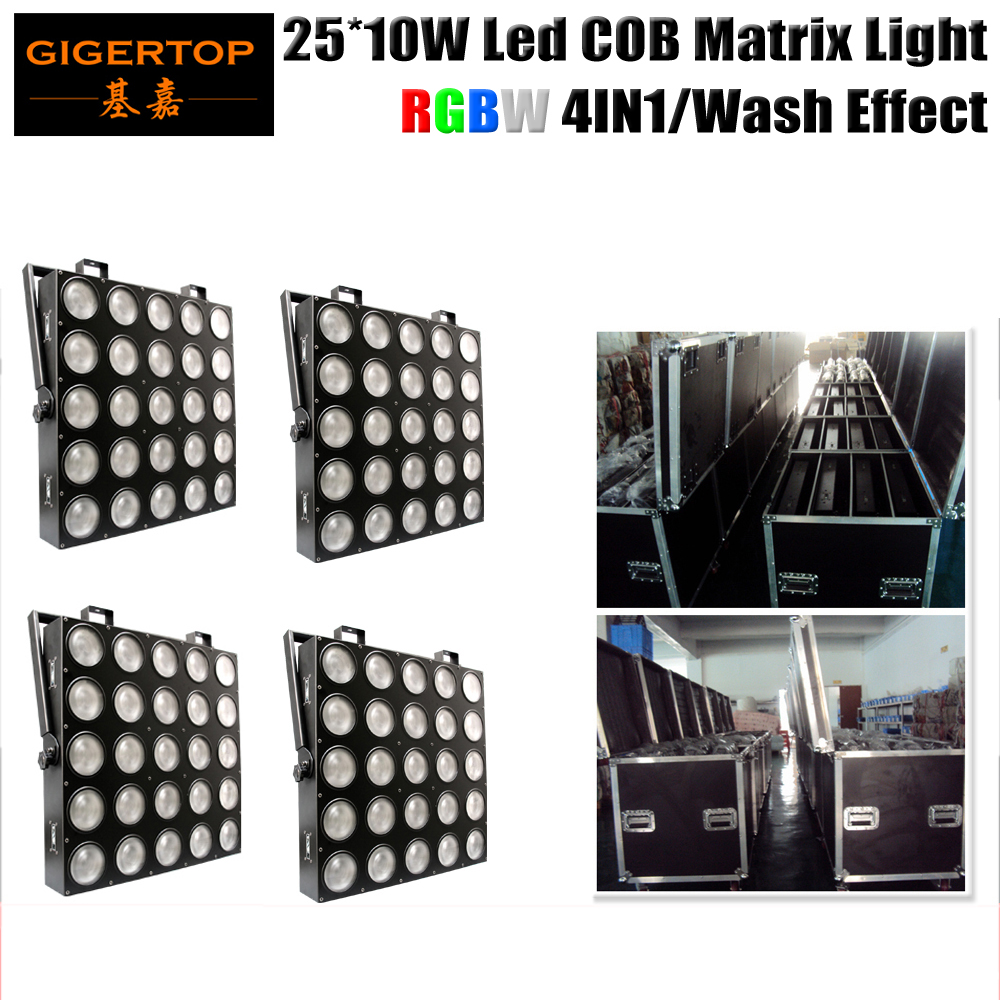 China Led Stage Lighting 5x5 Head RGBW 4IN1 Led Matrix Audience Light LCD Display Cree Lamp Good Reflector Flightcase 4IN1 Pack dmx512 control 5x5 led matrix light 5x5 led matrix led blinder stage effect lighting