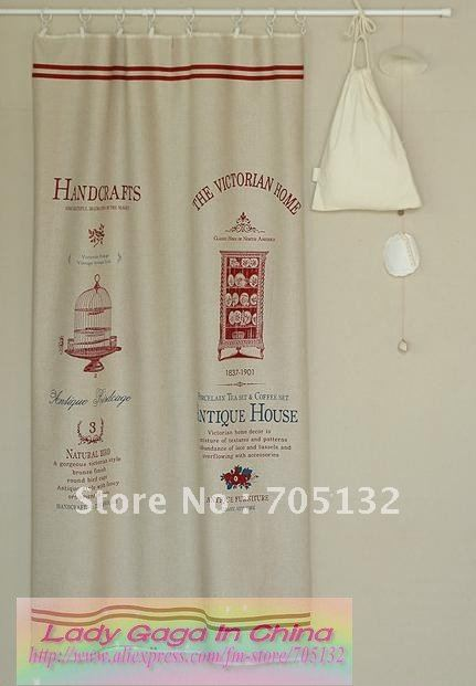 140 64cm Cotton Linen Fabric For Upholstery Victorian Design Curtain