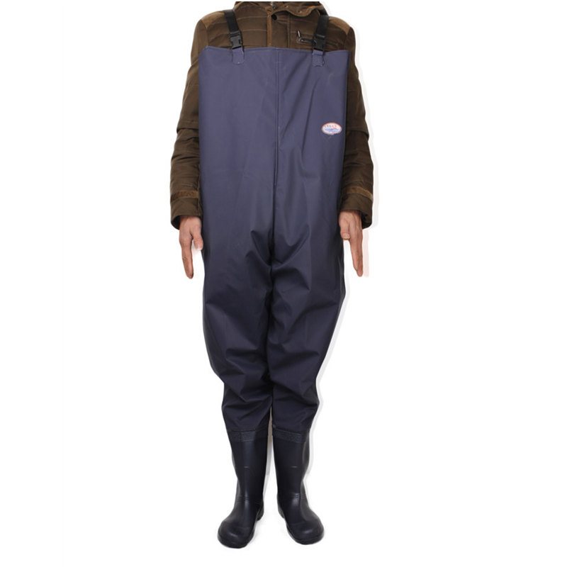 Plus Size 46# One-piece Breathable Chest Waders for Fishing Farming Overalls One-piece Body Clothes Rubber&Plastic Fishing Wader 39 45 size pvc fishing waders footwear for fishing trango breathable rubber boots overalls waterproof fishing shoes fo22