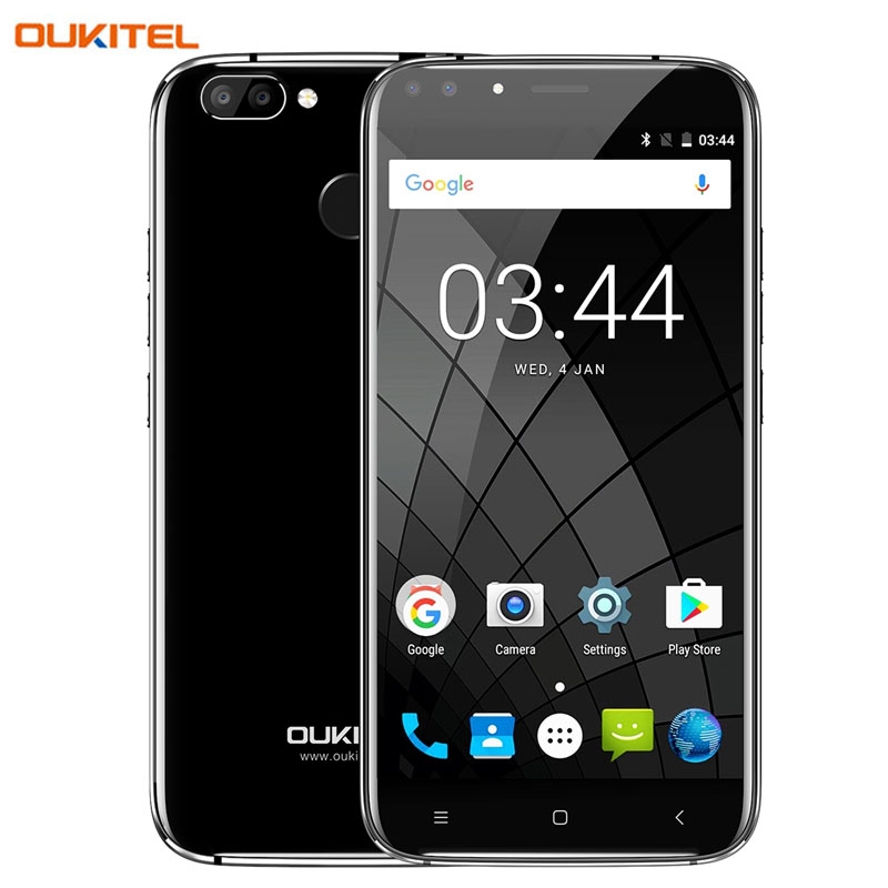3G Oukitel U22 2GB+16GB Dual Rear Camera with Dual Front Camera Fingerprint Identification 5.5'' Android 7.0 MTK6850A Quad Core