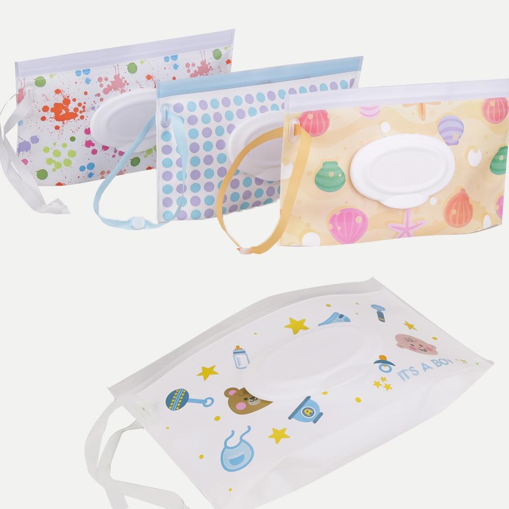 Quaslover Экологичная коробка для детских салфеток, коробка для влажных салфеток, чистящие салфетки, сумка для переноски, чехол-раскладушка с ремнем