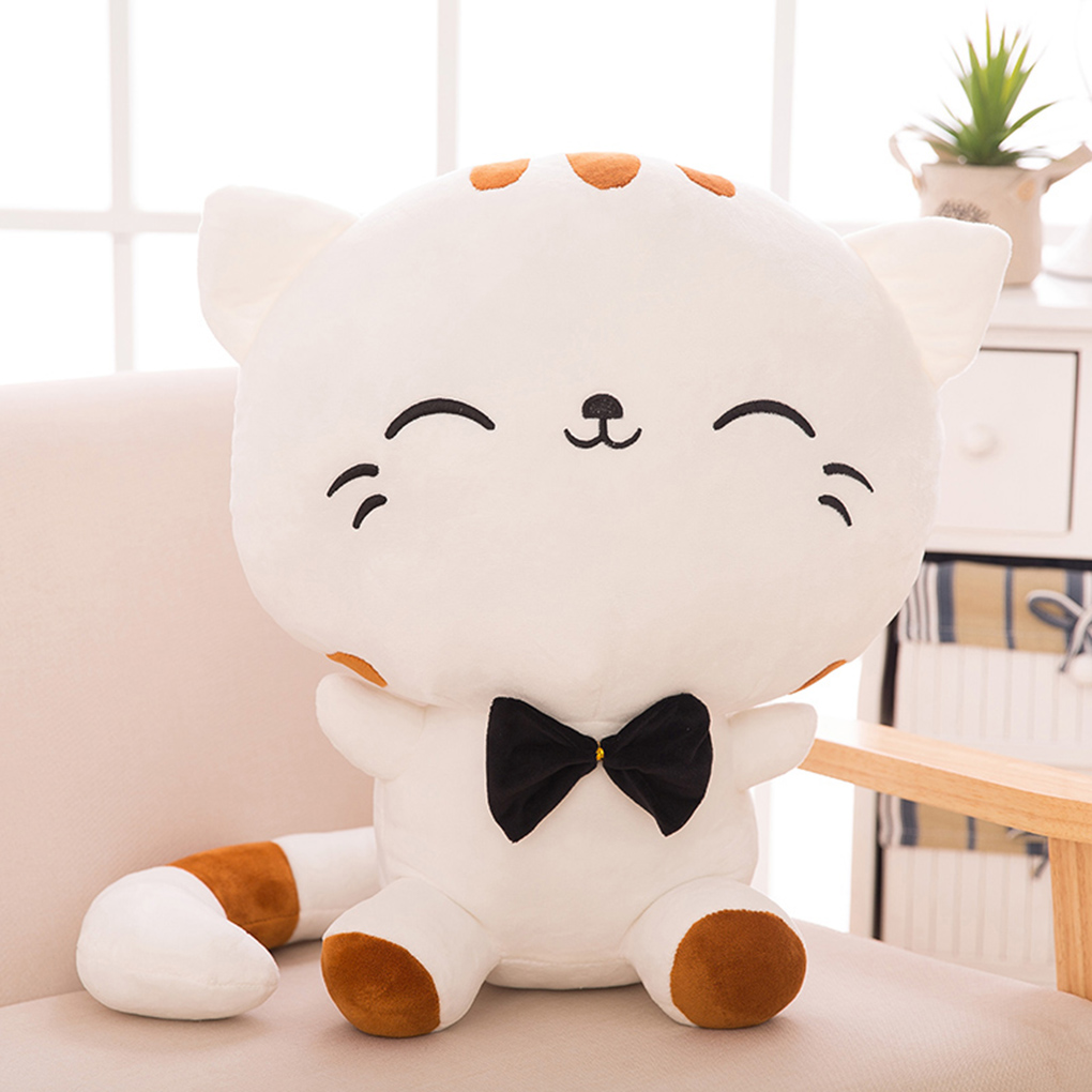 Cat Plush Emoji Cushion Pillow PP Cotton Filling Home Decor Doll Smiling Face Cartoon Stuffed Toys Gifts 50cm
