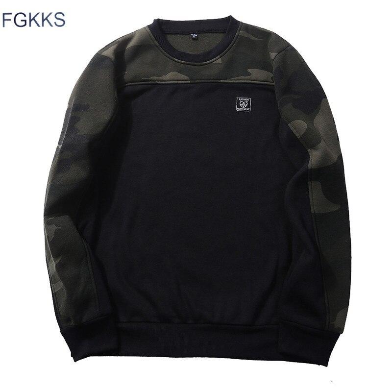 FGKKS Men Hoodie Hip Hop Street Wear Sweatshirts Skateboard Unisex Pullover Male Camouflage Hoodies EU Size