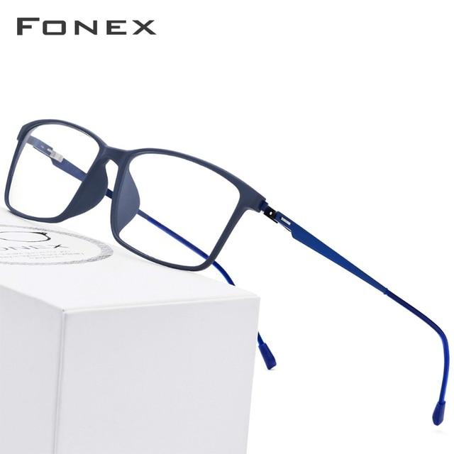 TR90 Liga de Titânio Óculos de Armação Homens Miopia Óculos de Prescrição 2019 Screwless Coreano Armações de Óculos Olho de Vidro 9855