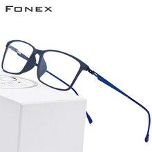 ae2994914 TR90 Liga de Titânio Óculos de Armação Homens Miopia Óculos de Prescrição  2019 Screwless Coreano Armações de Óculos Olho de Vidr.