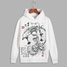 Китайский чернила Одна деталь Наруто Косплэй rem ОЗУ пуловер с принтом толстовки с капюшоном мужская флисовая толстовка для осени