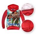 MOANA hoody tops tees Shirts swearshirt  teenager kids children long sleeve hoodie Moana costume Free shipping