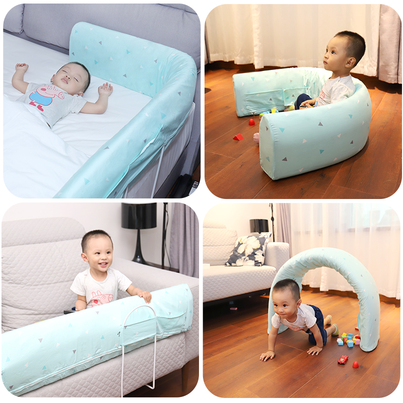 baby bed fence children protective kid rails safety sleeping shatter-resistant 1.5-1.8-2 meters bed baby bed rail 2 meters bed fence to prevent the child from fallingl stainless steel children bed rail
