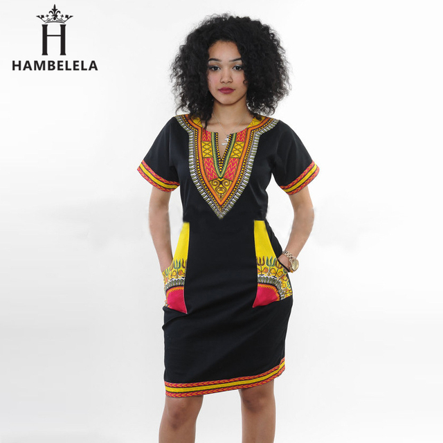US $8.74 30% OFF|HAMBELELA 3XL Plus Size Dress African Clothes Dashiki  Dress For Women Casual Summer Dresses Vintage Printed Vestidos Robe  Femme-in ...
