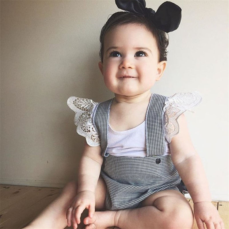 Infant Kids Baby Girls Clothes Princess Cotton Lace Summer Tops Solid White Pink Black Fry Sleeve T Shirt in Tees from Mother Kids