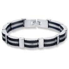 Bracelets Fashion Bangles-Made Male Jewelry Stainless-Steel Black Best-Friends Luxury Man