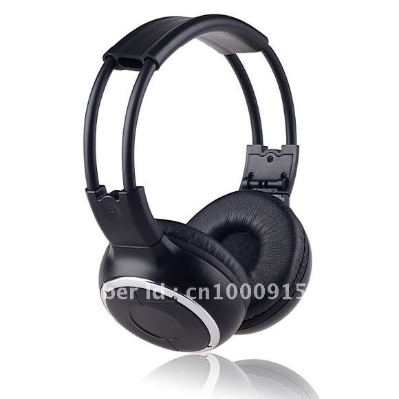 Freee shipping Infrared Stereo Wireless Headphones Headset IR in Car roof dvd or headrest dvd Player two channels image