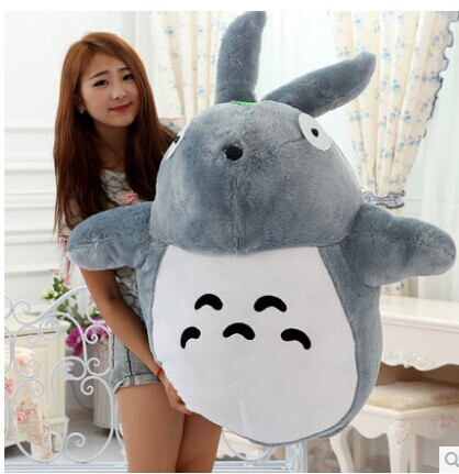 huge 125cm totoro , anime doll closed mouth totoro plush toy , throw pillow birthday gift t8690 stuffed plush toy huge 95cm prone panda doll soft throw pillow birthday gift b0487