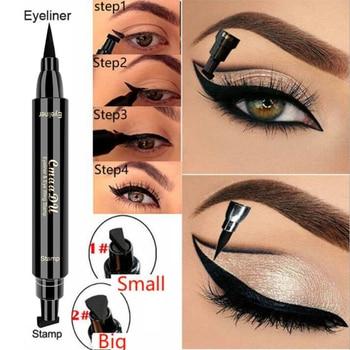 CmaaDu Liquid Eyeliner Pencil Super Waterproof Black Double-Headed  Stamps Eye liner Eye maquiagem Cosmetic Makeup Tool TSLM1
