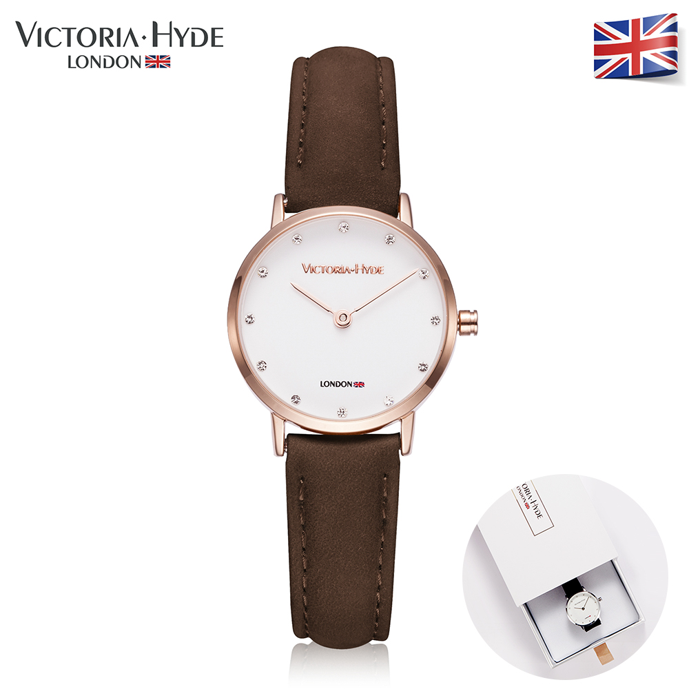Victoria Hyde Women Quartz Watches Waterproof Watch Clock Brand Genuine Leather Strap Watch Luxury Lady Wristwatches Gift BOX disney kids watch children watches princess elsa crown snow genuine brand fashion cute wristwatches leather strap gift clock