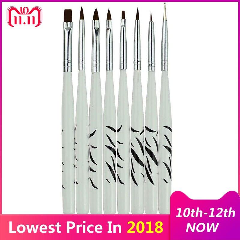 8pcs Nail Tools Nail Art Brush Painting Drawing Pen Professional Nail Decorations Manicure Polish Liner Nail Brushes Dotting Pen
