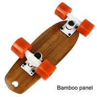 Portable Mini Skate Board Bamboo Deck Peny Board Long Board Brush Street Deck Skateboard Four Wheels