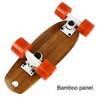 Portable Mini Skate Board Bamboo Deck Peny Board Long Board Brush Street Deck Skateboard Four Wheels Drift Flying Skate Board