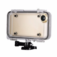 Extreme Sports Waterproof Diving Case for iPhone 6 6s for GoPro accessories Moto Bicycle Phone Holder Cover With Wide Angle Lens