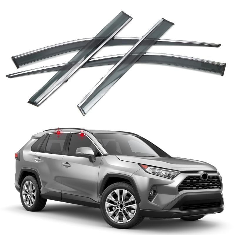 Pare-brise pare-brise déflecteurs pare-soleil pour Toyota RAV4 2019-2020 4 pièces