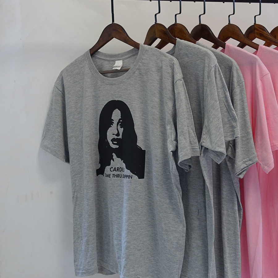 Hot Rapper Cardi B T shirt Came Thru Drippin Printed Hip Hop Tshirt O-neck Breathable Soft Pure Cotton Tee Shirt Plus Size
