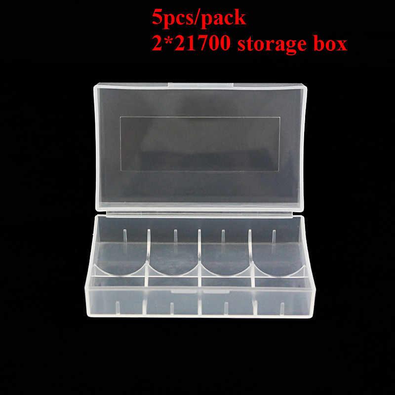 5 unidades/pacote 21700 battery case holder para 2*21700 caixa de armazenamento Da Bateria caso protegido com frete grátis