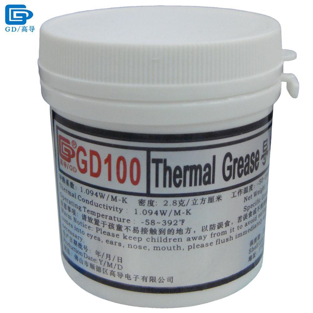 GD marca disipador de calor yeso compuesto GD100 conductora térmica pasta Grasa de silicona peso neto 150 GRAMPS blanco para CPU LED CN150