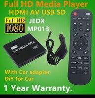 Full HD 1080P Car Media Player HDMI AV Output SD MMC Card Reader USB Host Free