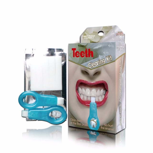 New Teeth Whitening Kit Dental Teeth Cleaning Whitener Brush Tooth Stains Remover Teeth Cleaning Strips for Oral Deep Clean