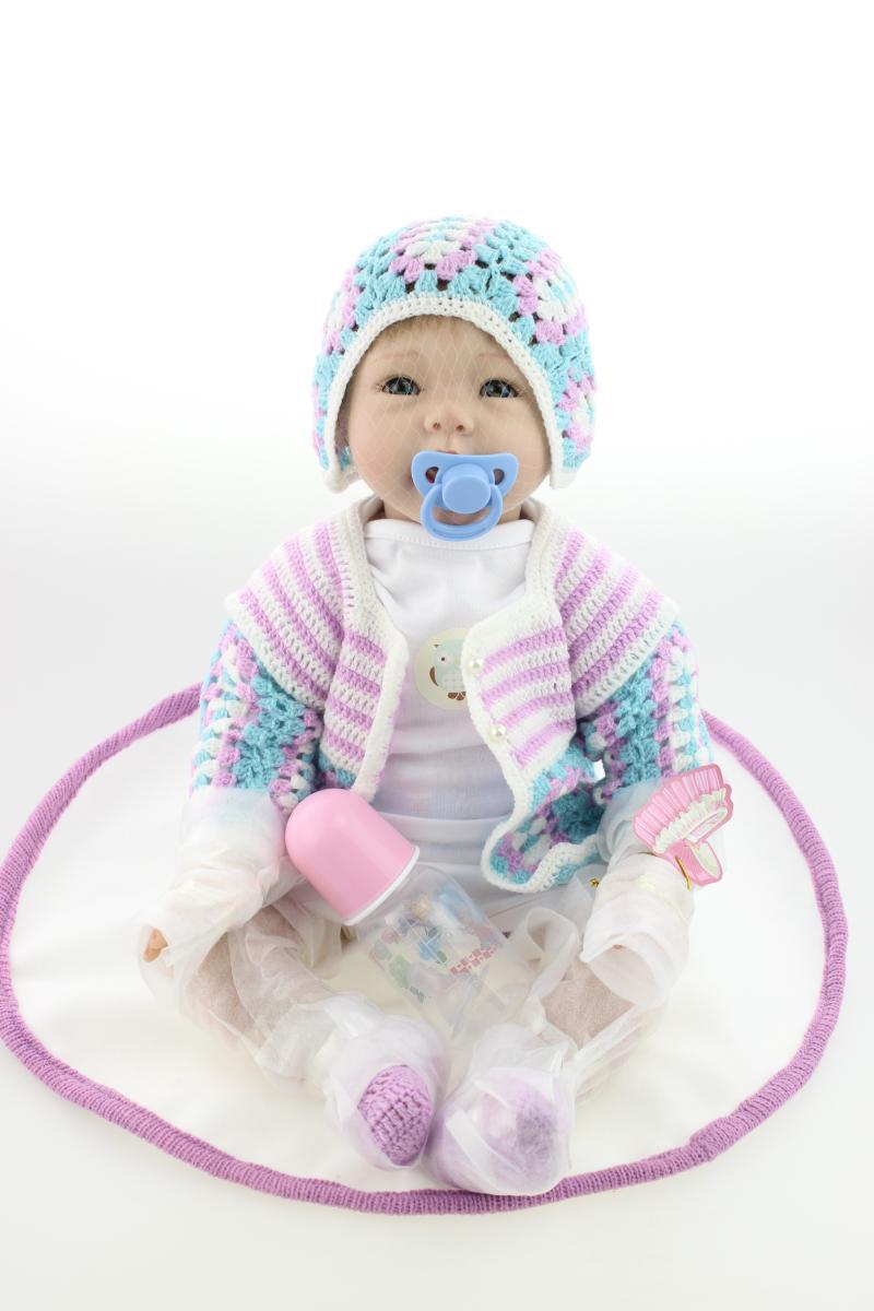 Hot New silicone reborn baby doll toys girls brinquedos play house toy lifelike boy girl sleeping baby have blue and brown eyes hot sale 2016 new fashion spring women flats black shoes ladies pointed toe slip on flat women s shoes size 33 43