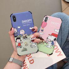 Xwmaki корейский стиль мультфильм Подушка безопасности матовый чехол для телефона Iphone Xs max Xr X 7 8 6 6s Plus анти-падение милая собака полный Чехол