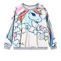 Fleece unicornio licorne outono 2016 mulheres harajuku pullover kawaii harajuku capuz unicornios 3d sudaderas hoodies inverno