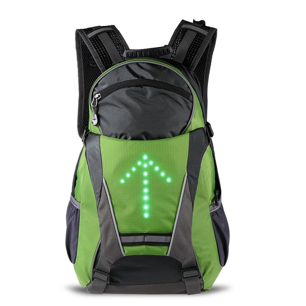 Lixada Bike Bag New LED Turn Signal Light 18L Cycling Bicycle Backpack Reflective Bag Pack for