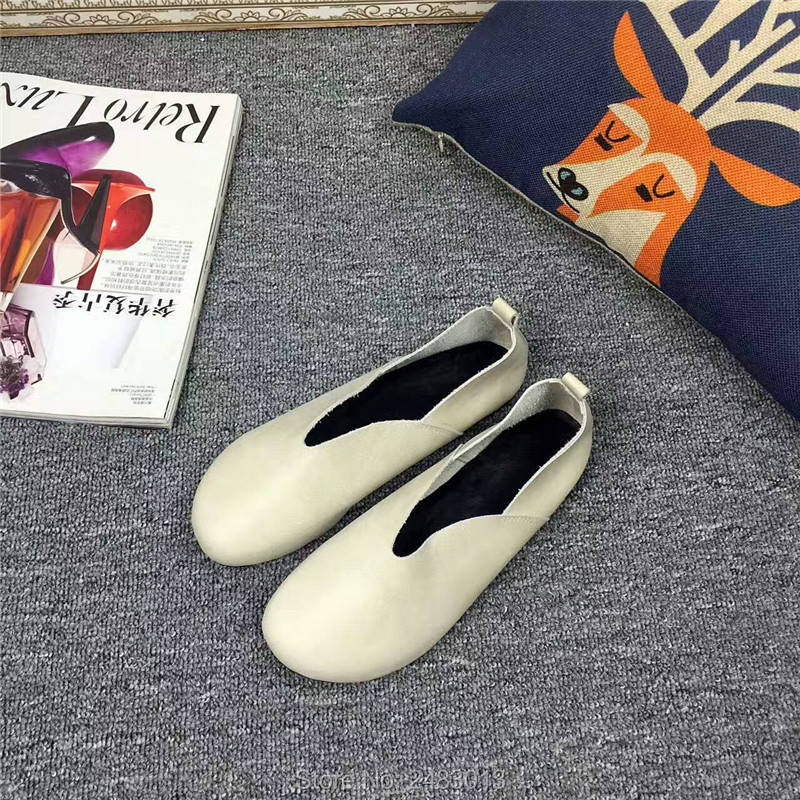 ad184e65a3bc9 SexeMara New Fashion Forest style Genuine Leather Women shoes soft Cowhide  female Casual Shoes size 34 40 6 Colors Free shipping-in Women's Flats from  Shoes ...