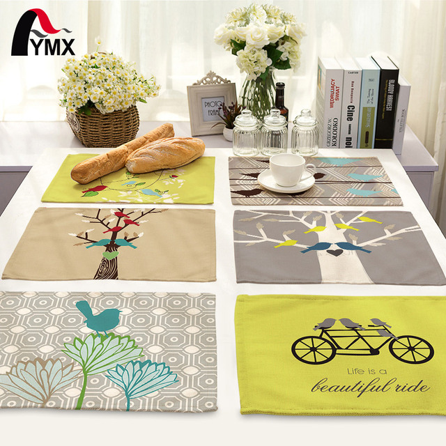 42*32cm Europe Simple Dining Table Napkin Set Table Bowl Dining Mats ...