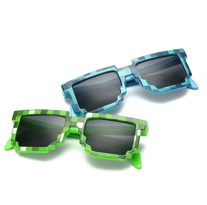 5 Color! Fashion Sunglasses Kids Cos Play Action Game Toys  Square Glasses With EVA Case Gifts For Boy Girl