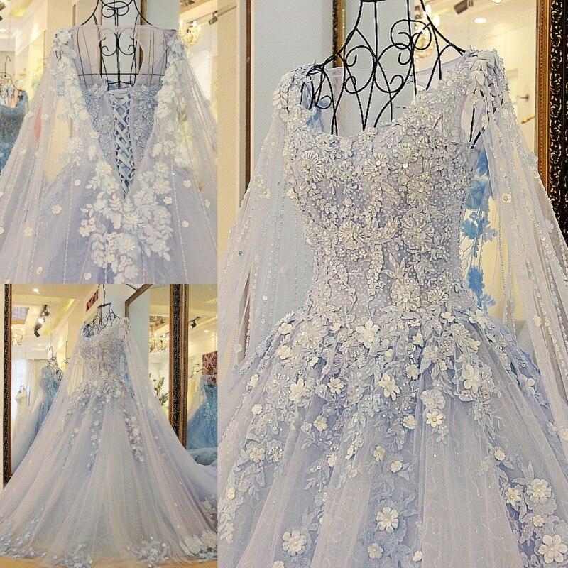 LS23990 nouvelle arrivée robe de soirée femme 2018 bleu robe de bal - Habillez-vous pour des occasions spéciales - Photo 6