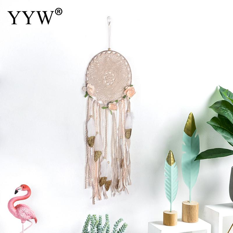 1pcs Scandinavian Style Dream Catcher Girls Room Decor Hunter Substance Dreamcatcher Hoops Nordic Hanging Decoration Home Crafts