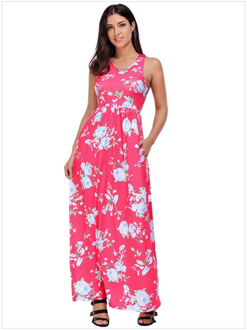 Vintage O neck Prairie Chic Floral Print Tank Dress Women Holiday ...