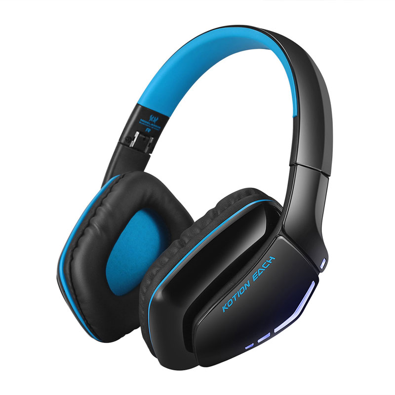 New Gaming Headset Stereo Earphones Deep Bass HiFi Bluetooth Headset Foldable Wireless Headphones Earphone with Mic