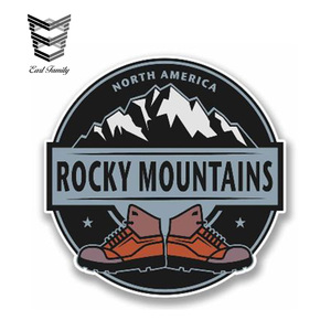 EARLFAMILY 13cm x 13cm Car Sticker Rocky Mountains Vinyl Sticker NORTH AMERICA Laptop Travel Luggage Waterproof Car Styling
